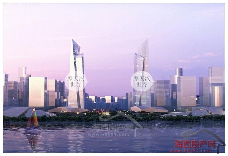 东部新城规划图及亚洲第二大海峡会展模型 图