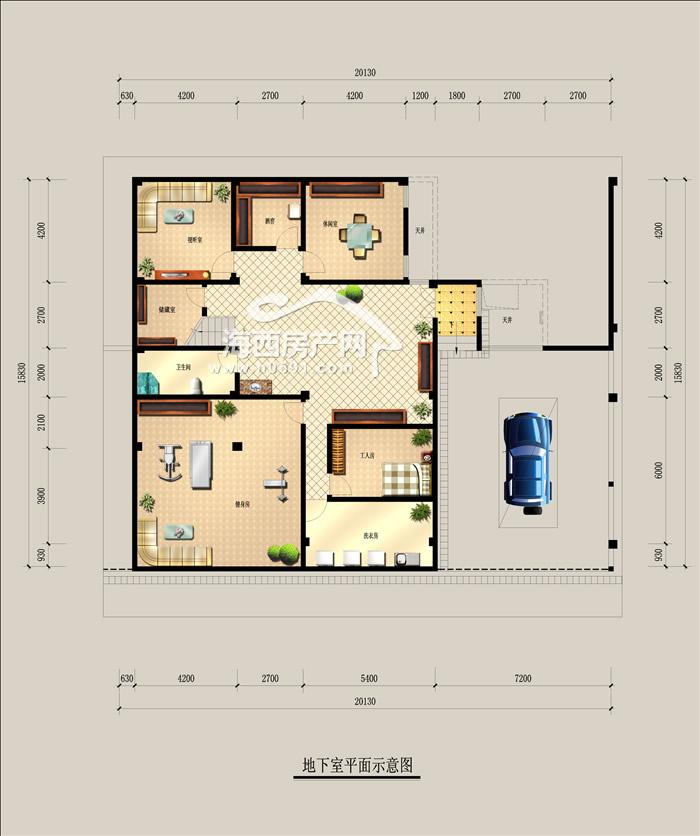 别墅bs2地下室平面